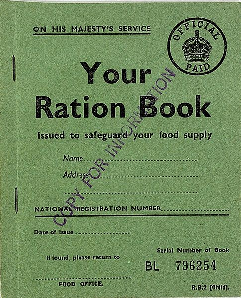 Child's Ration Book