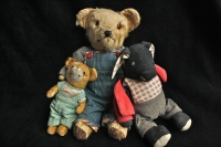 old teddy bear and soft toys